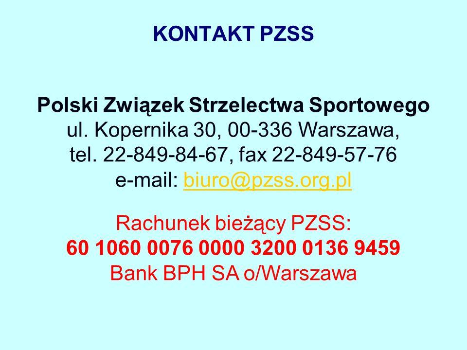 KONTAKT PZSS Polski Związek Strzelectwa Sportowego ul.