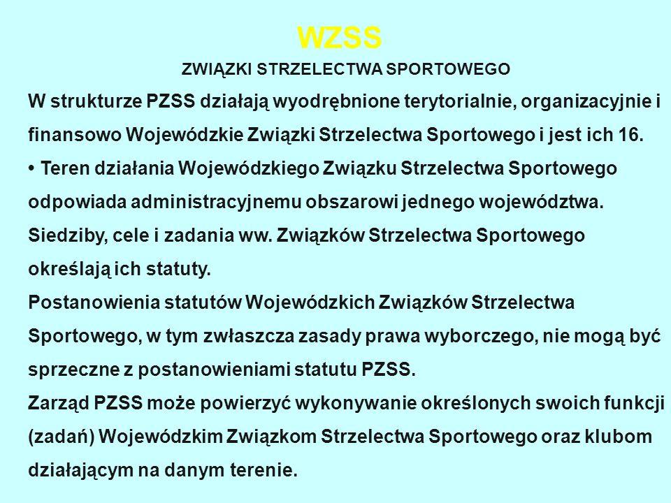 WZSS ZWIĄZKI STRZELECTWA SPORTOWEGO W strukturze PZSS działają wyodrębnione terytorialnie, organizacyjnie i finansowo Wojewódzkie Związki Strzelectwa Sportowego i jest ich 16.