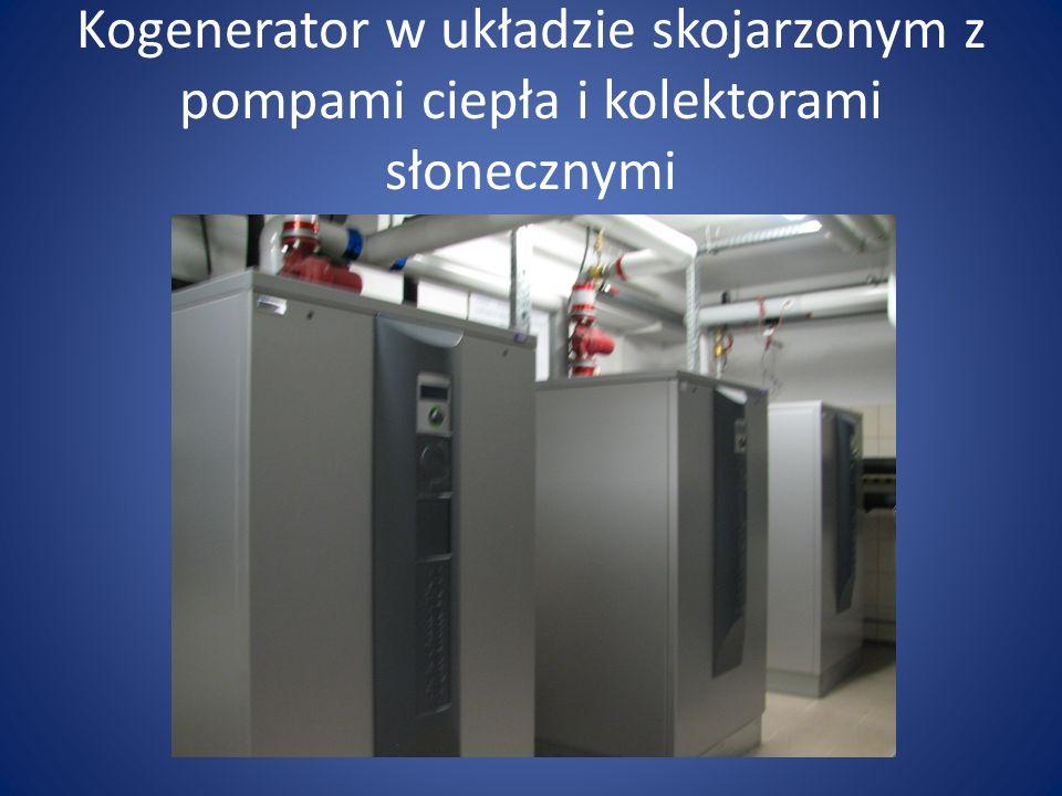 Kogenerator w układzie skojarzonym z pompami ciepła i kolektorami słonecznymi