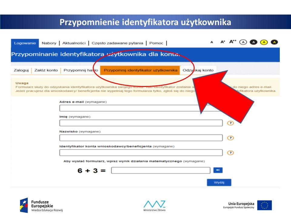 12 Przypomnienie identyfikatora użytkownika