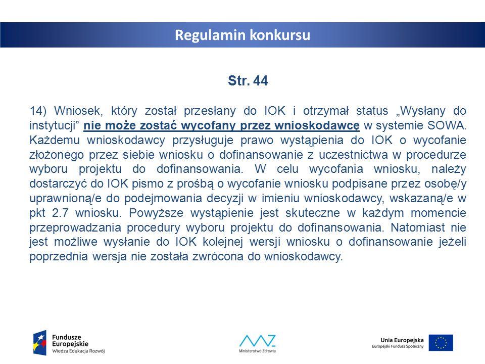 Regulamin konkursu Str.