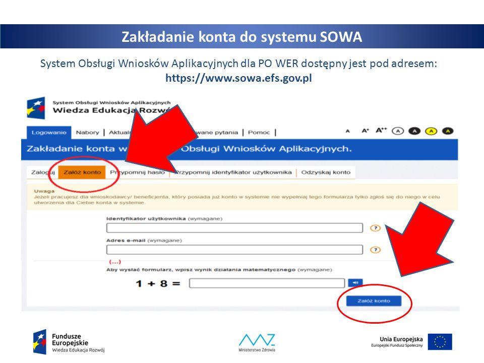 18 Tworzenie wniosku o dofinansowanie Przy odpowiednim naborze należy kliknąć na przycisk Szczegóły – zostaną wtedy wyświetlone szczegółowe informacje dotyczące konkretnego naboru.