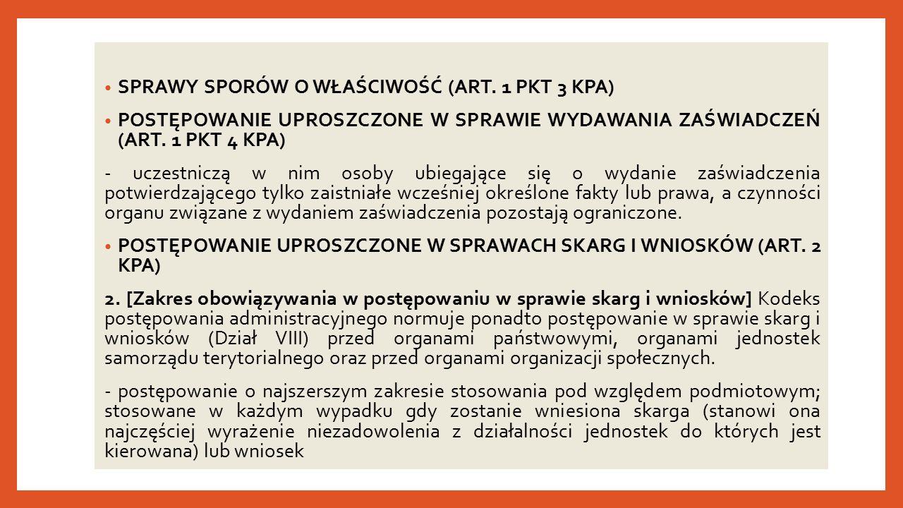 SPRAWY SPORÓW O WŁAŚCIWOŚĆ (ART.