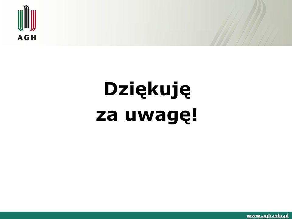 Dziękuję za uwagę! www.agh.edu.pl