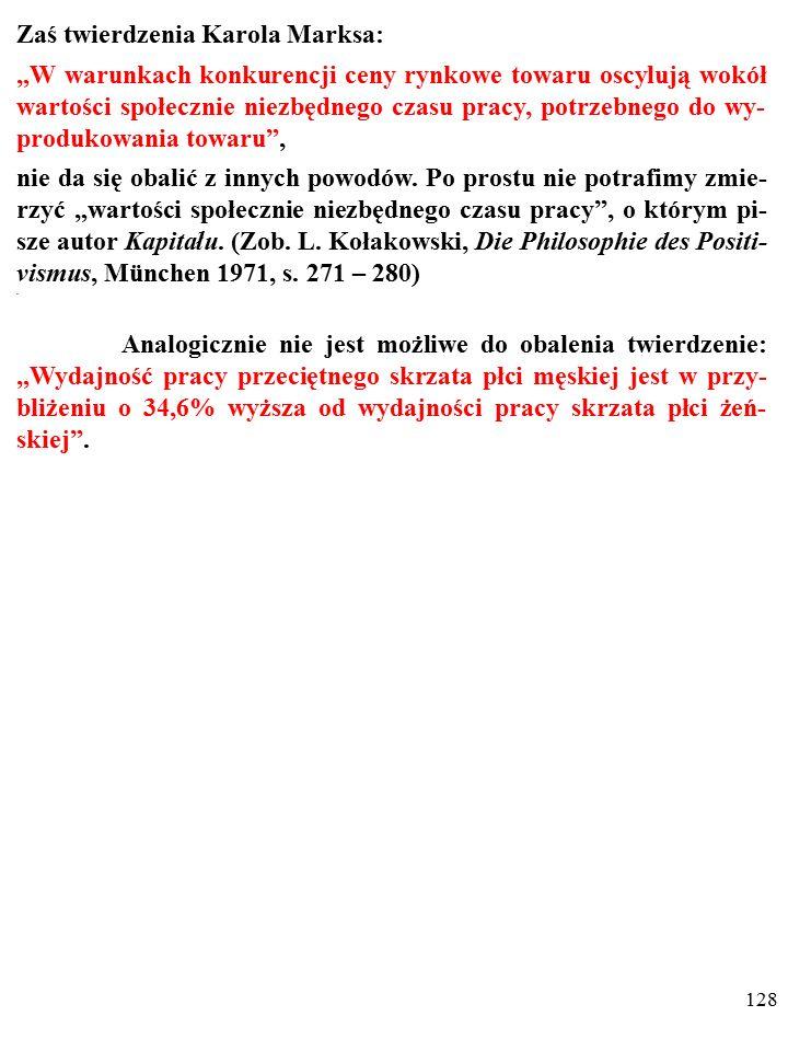 127 Prawdziwość TAUTOLOGII wynika z definicji użytych nazw.