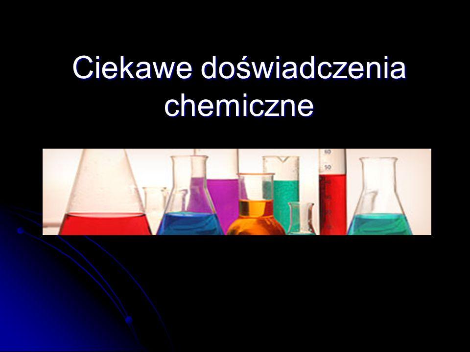 Cel projektu Zainteresowanie chemią jako przedmiotem.