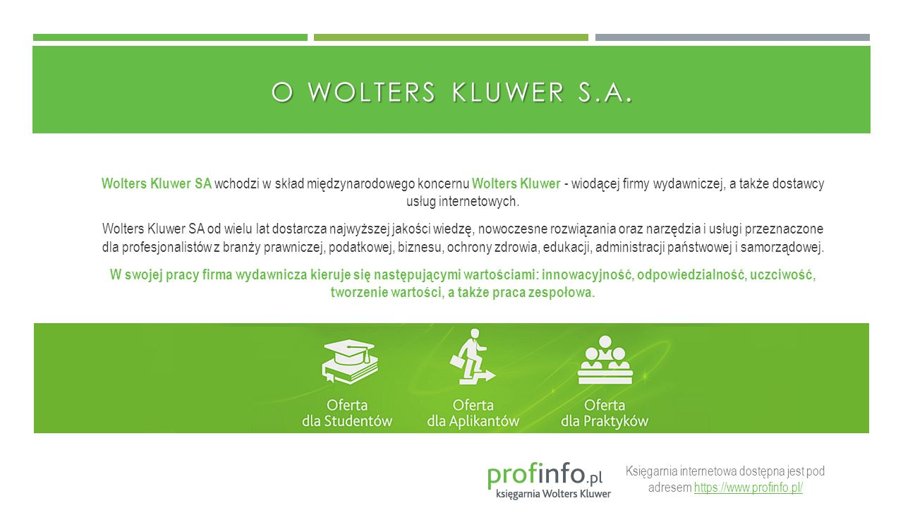 O WOLTERS KLUWER S.A.