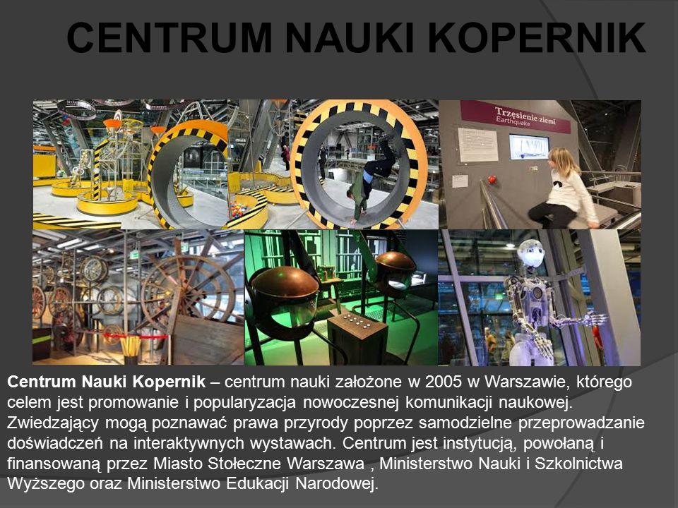 Centrum Nauki Kopernik – centrum nauki założone w 2005 w Warszawie, którego celem jest promowanie i popularyzacja nowoczesnej komunikacji naukowej. Zw