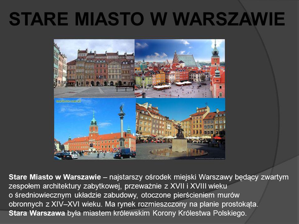 Stare Miasto w Warszawie – najstarszy ośrodek miejski Warszawy będący zwartym zespołem architektury zabytkowej, przeważnie z XVII i XVIII wieku o śred