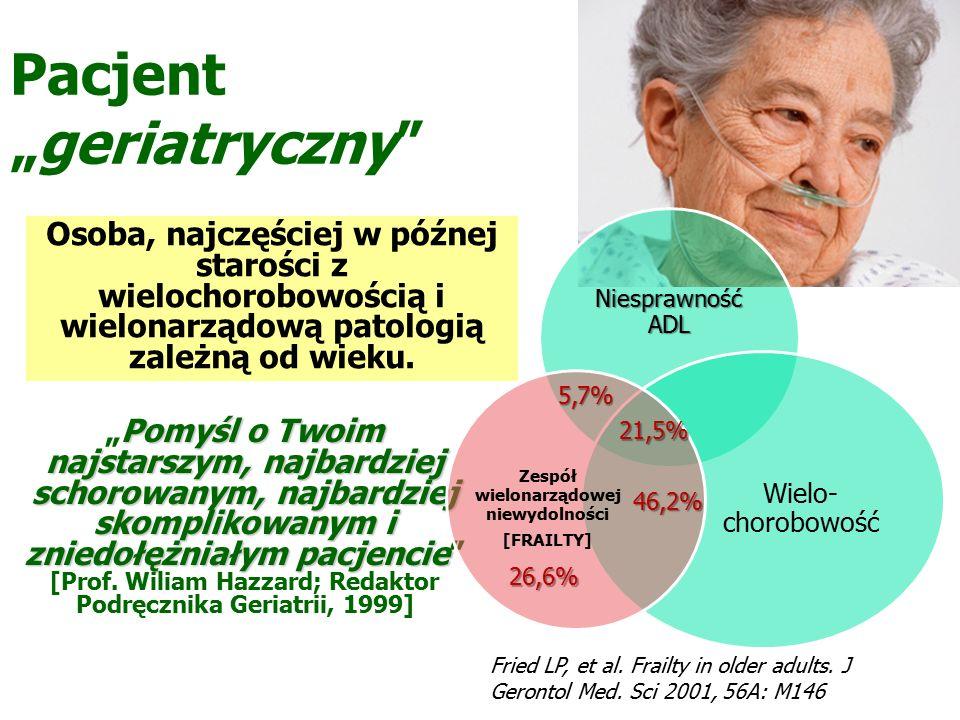 """Pacjent """"geriatryczny Pomyśl o Twoim najstarszym, najbardziej schorowanym, najbardziej skomplikowanym i zniedołężniałym pacjencie """"Pomyśl o Twoim najstarszym, najbardziej schorowanym, najbardziej skomplikowanym i zniedołężniałym pacjencie [Prof."""