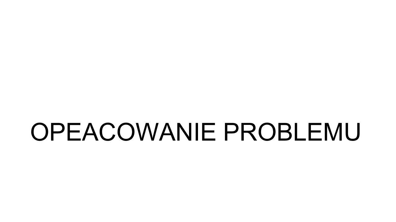 OPEACOWANIE PROBLEMU