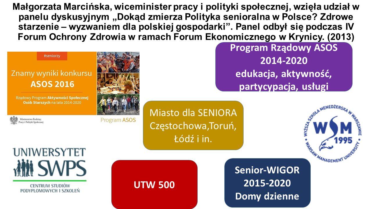 """Małgorzata Marcińska, wiceminister pracy i polityki społecznej, wzięła udział w panelu dyskusyjnym """"Dokąd zmierza Polityka senioralna w Polsce."""