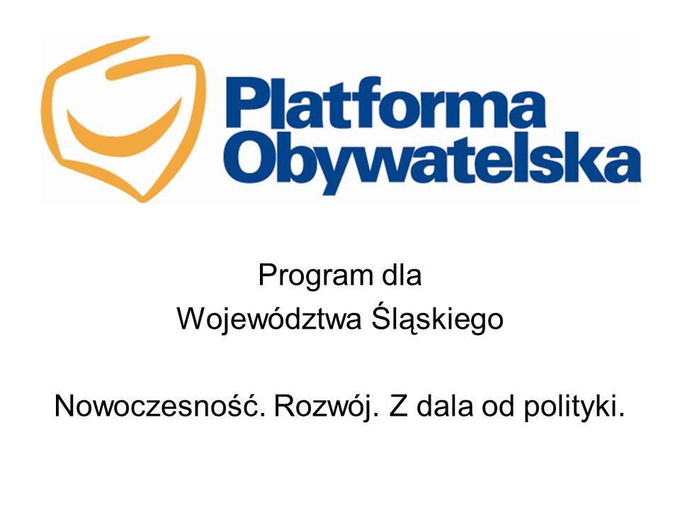 Program dla Województwa Śląskiego Nowoczesność. Rozwój. Z dala od polityki.
