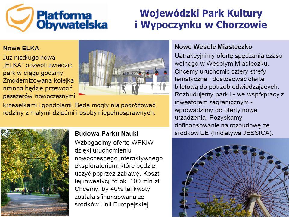 Wojewódzki Park Kultury i Wypoczynku w Chorzowie Nowe Wesołe Miasteczko Uatrakcyjnimy ofertę spędzania czasu wolnego w Wesołym Miasteczku. Chcemy uruc