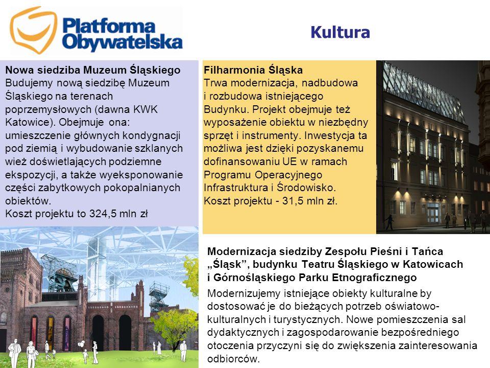 Kultura Filharmonia Śląska Trwa modernizacja, nadbudowa i rozbudowa istniejącego Budynku. Projekt obejmuje też wyposażenie obiektu w niezbędny sprzęt