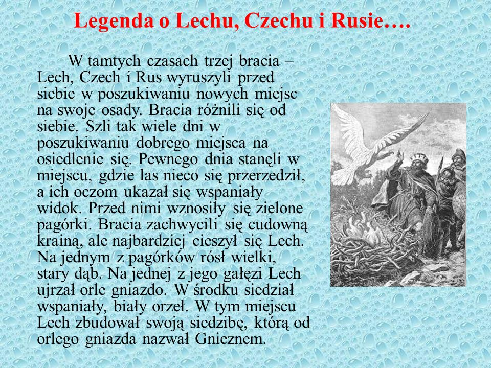 Legenda o Lechu, Czechu i Rusie….