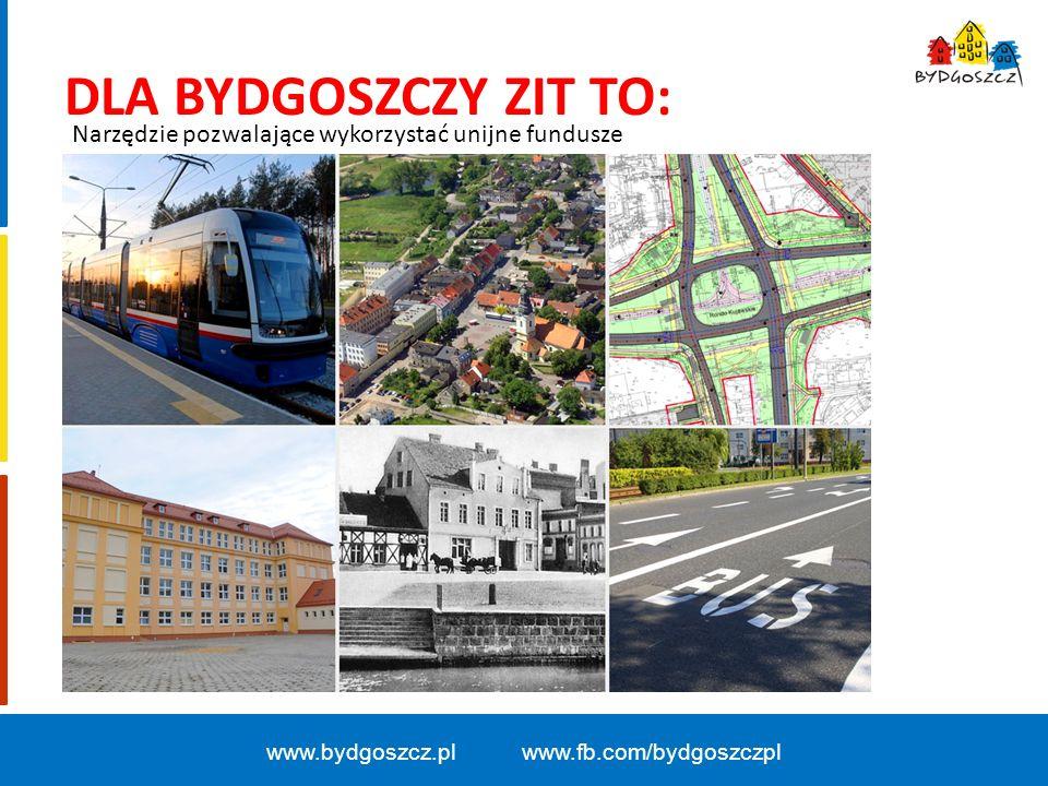 www.bydgoszcz.pl www.fb.com/bydgoszczpl DLA BYDGOSZCZY ZIT TO: Narzędzie pozwalające wykorzystać unijne fundusze
