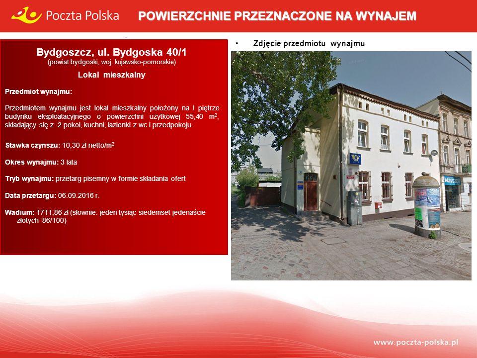Opis przedmiotu wynajmu: Lokal mieszkalny usytuowany jest na I piętrze budynku eksploatacyjnego stanowiącego własność Poczty Polskiej S.A.