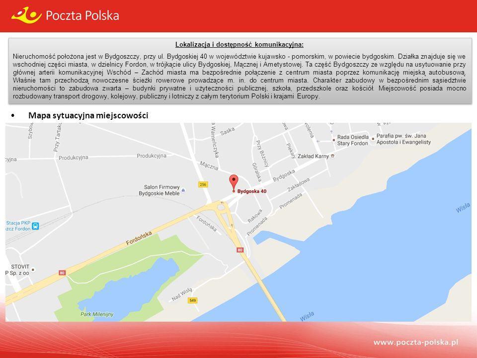 Lokalizacja i dostępność komunikacyjna: Nieruchomość położona jest w Bydgoszczy, przy ul.