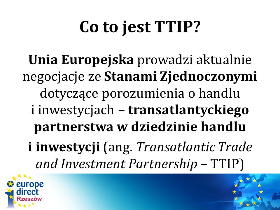 Co to jest TTIP.