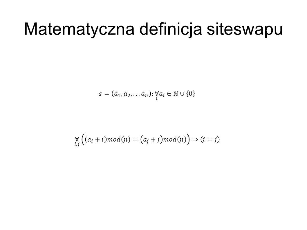 Matematyczna definicja siteswapu