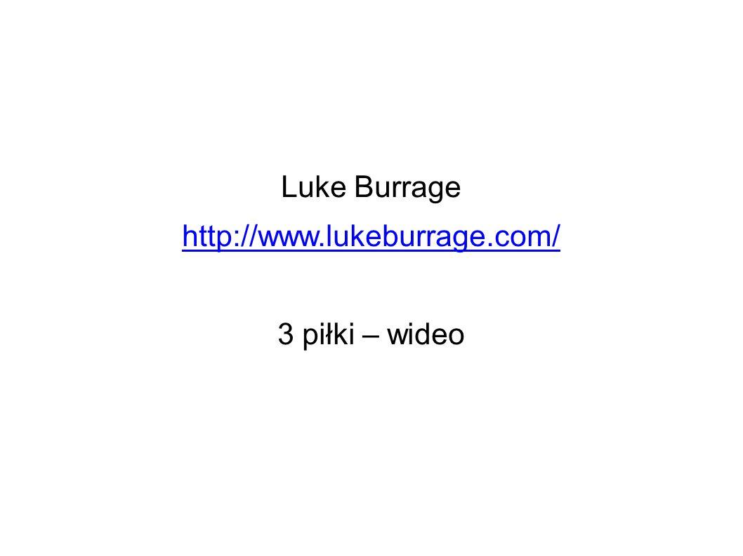 Luke Burrage http://www.lukeburrage.com/ 3 piłki – wideo