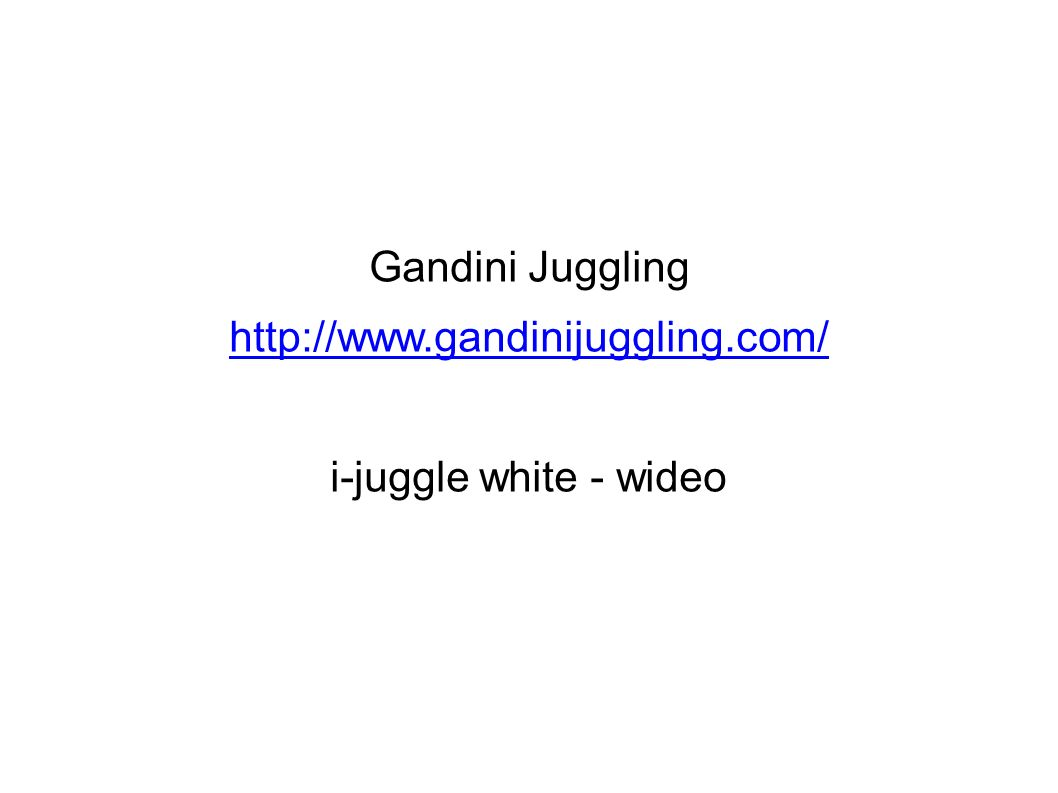 Gandini Juggling http://www.gandinijuggling.com/ i-juggle white - wideo