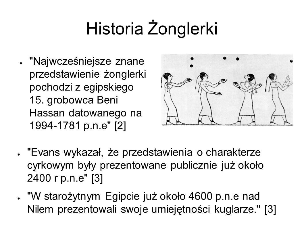 Historia Żonglerki ● Najwcześniejsze znane przedstawienie żonglerki pochodzi z egipskiego 15.