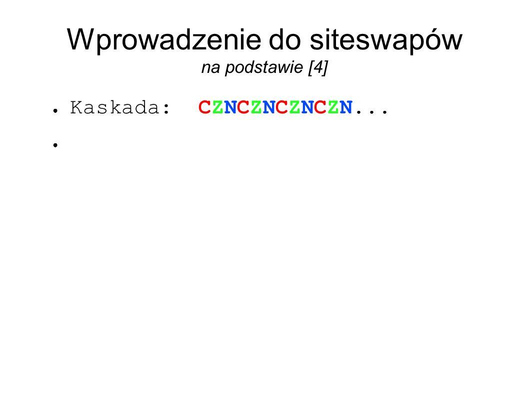 Wprowadzenie do siteswapów na podstawie [4] ● Kaskada: CZNCZNCZNCZN... ●