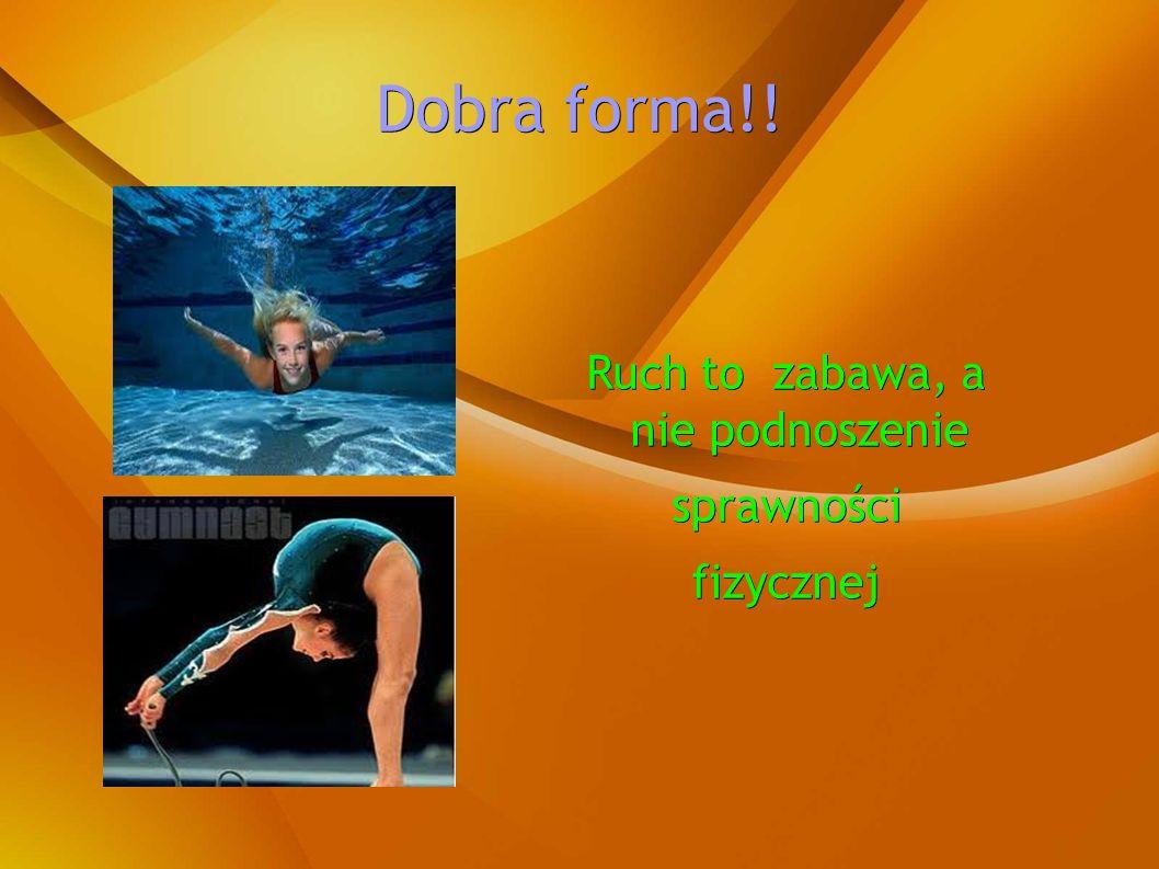Bieg i skoki wzmacniają płuca Bieg i skoki wzmacniają płuca Wiosłowanie wzmacnia mięśnie Wiosłowanie wzmacnia mięśnie Tańce i gimnastyka ćwiczą Tańce i gimnastyka ćwiczą mięśnie i stawy.