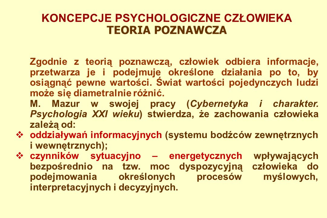KONCEPCJE PSYCHOLOGICZNE CZŁOWIEKA PSYCHOANALIZA  Zaprzeczanie, gdzie ludzie permanentnie odrzucają faktycznie istniejące zjawiska.