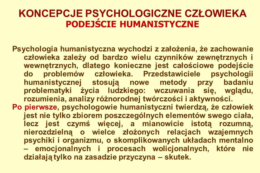 KONCEPCJE PSYCHOLOGICZNE CZŁOWIEKA OBRAZ SPOŁECZNO-KULTUROWY Psychologowie społeczni wyróżnili kilka czynników społeczno- kulturowych, które sprawiają, że człowiek zachowuje się posłusznie wobec społeczeństwa mimo tego, że jego wewnętrzne przekonania są czasami nawet diametralnie odmienne.