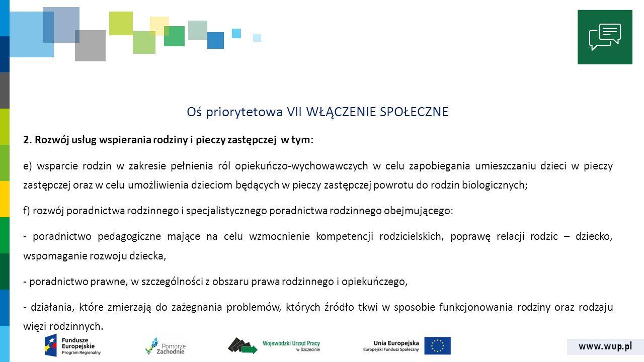 www.wup.pl KRYTERIA ADMINISTRACYJNOŚCI 5.Celowość partnerstwa Art.