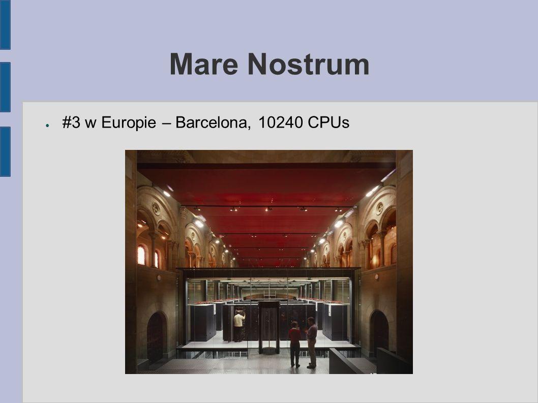 Mare Nostrum ● #3 w Europie – Barcelona, 10240 CPUs