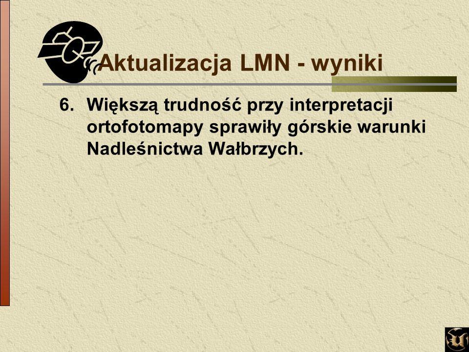 6.Większą trudność przy interpretacji ortofotomapy sprawiły górskie warunki Nadleśnictwa Wałbrzych.