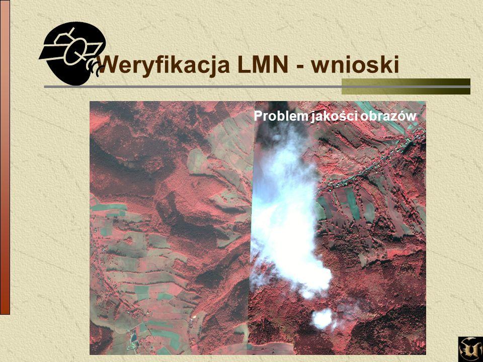 Weryfikacja LMN - wnioski Problem jakości obrazów