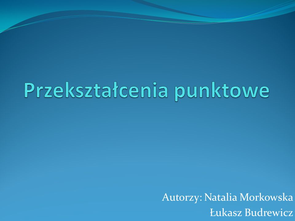 Autorzy: Natalia Morkowska Łukasz Budrewicz