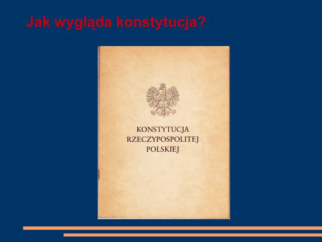 Jak wygląda konstytucja?