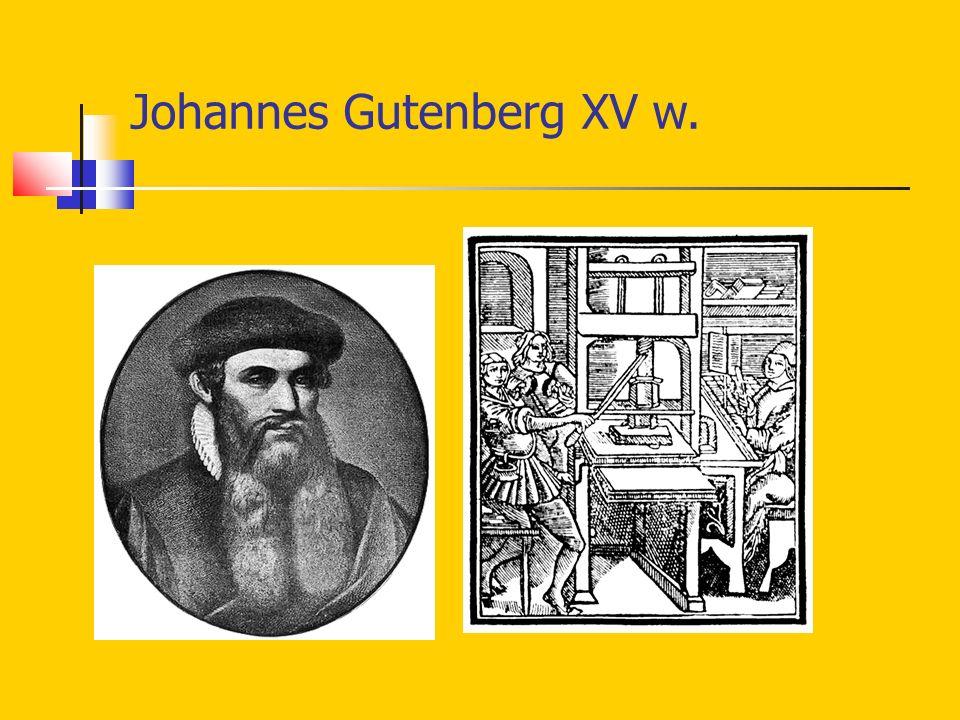 Johannes Gutenberg XV w.
