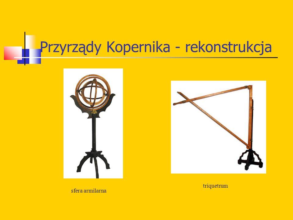 Przyrządy Kopernika - rekonstrukcja sfera armilarna triquetrum