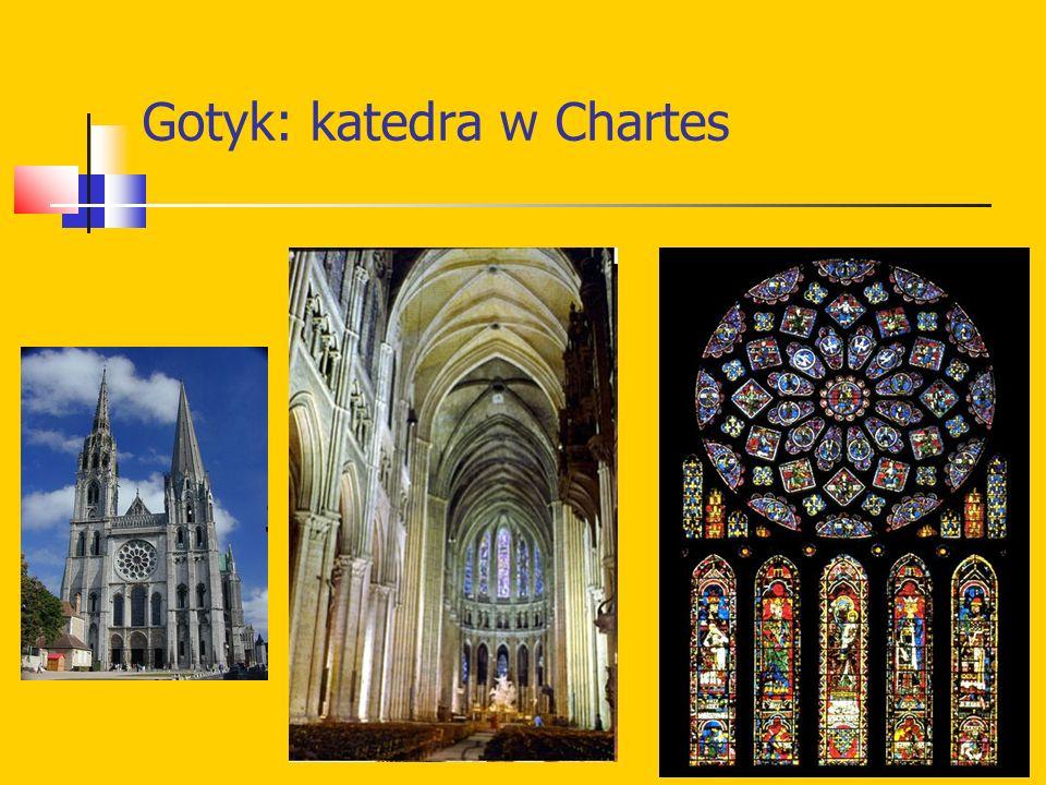 Gotyk: katedra w Chartes