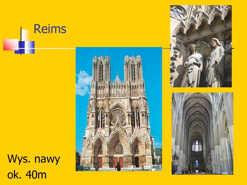 Reims Wys. nawy ok. 40m