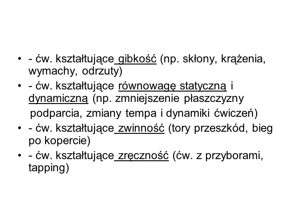 6.Podział stosowany A)ćw.