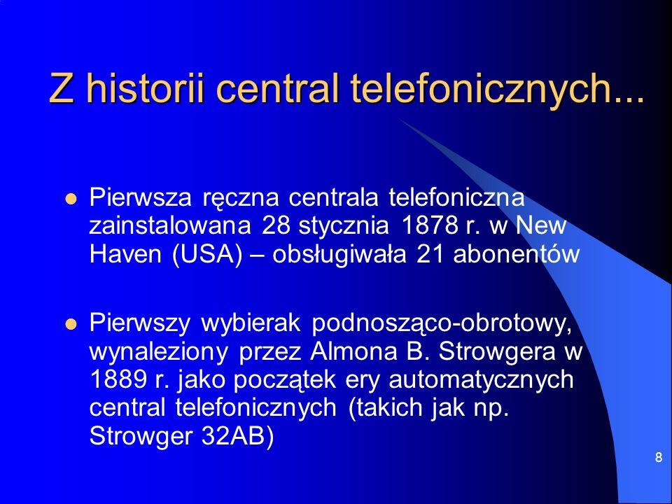 19 Rodzaje sieci (z komutacją kanałów) Sieć analogowa - PSTN/POTS Cyfrowa sieć z integracją usług - ISDN (Integrated Services Digital Network)