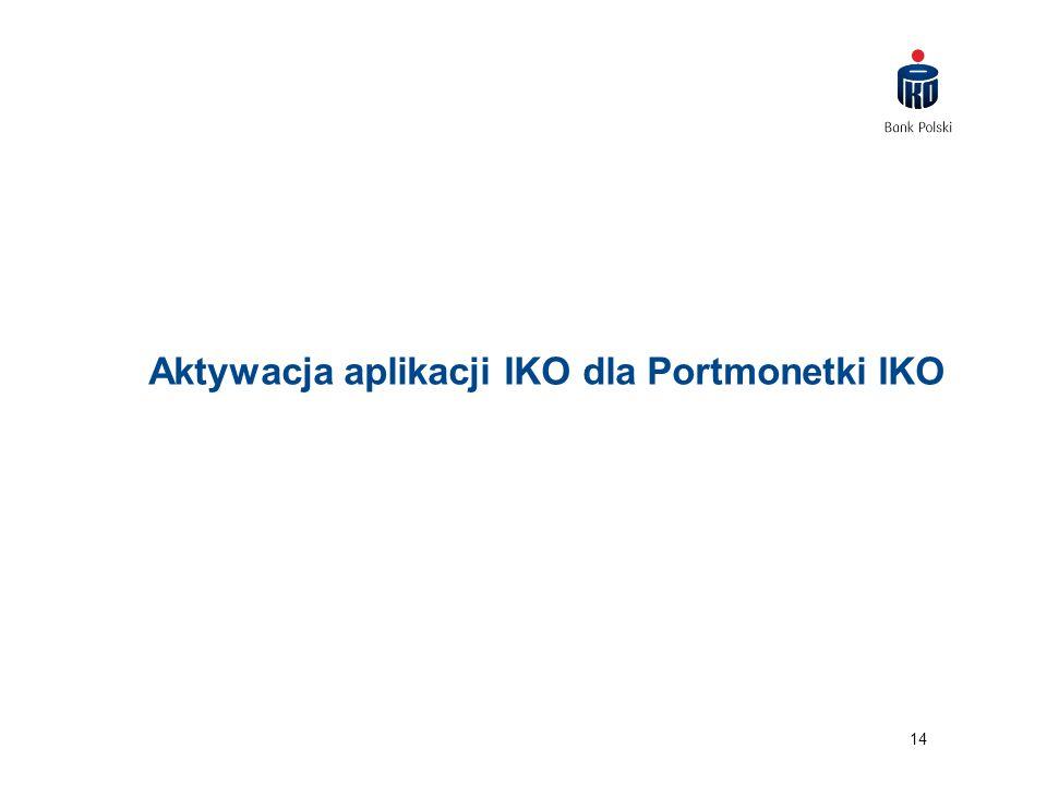 14 Aktywacja aplikacji IKO dla Portmonetki IKO
