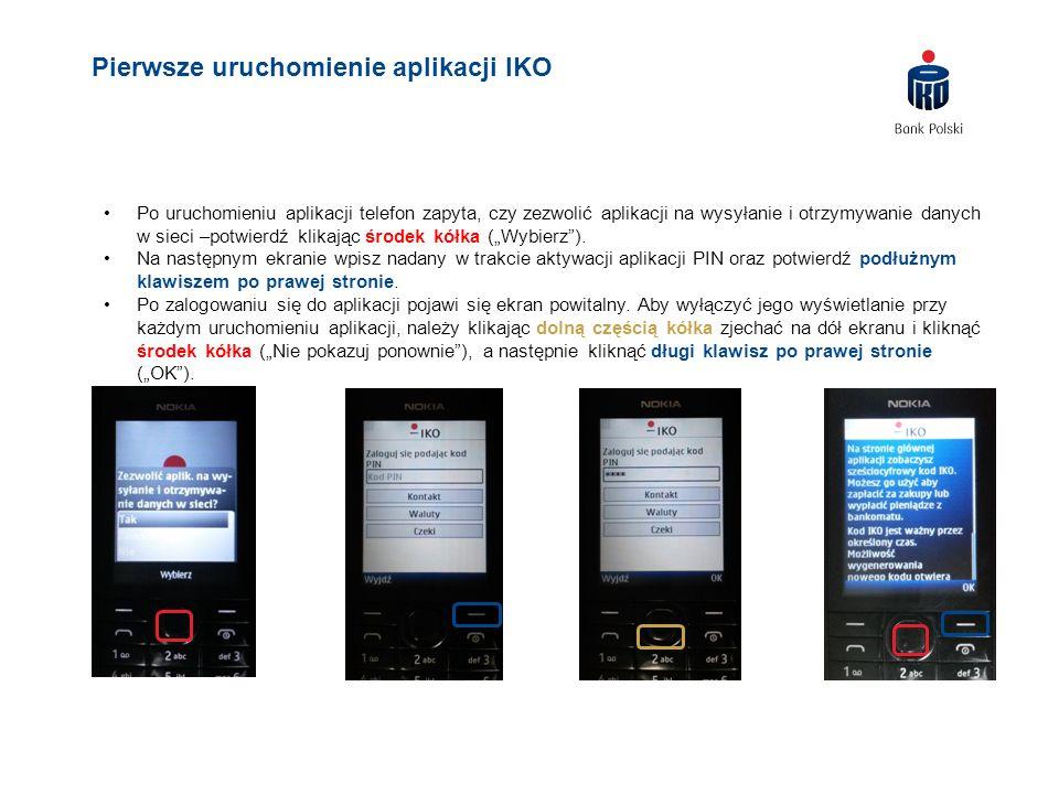 """Po uruchomieniu aplikacji telefon zapyta, czy zezwolić aplikacji na wysyłanie i otrzymywanie danych w sieci –potwierdź klikając środek kółka (""""Wybierz"""