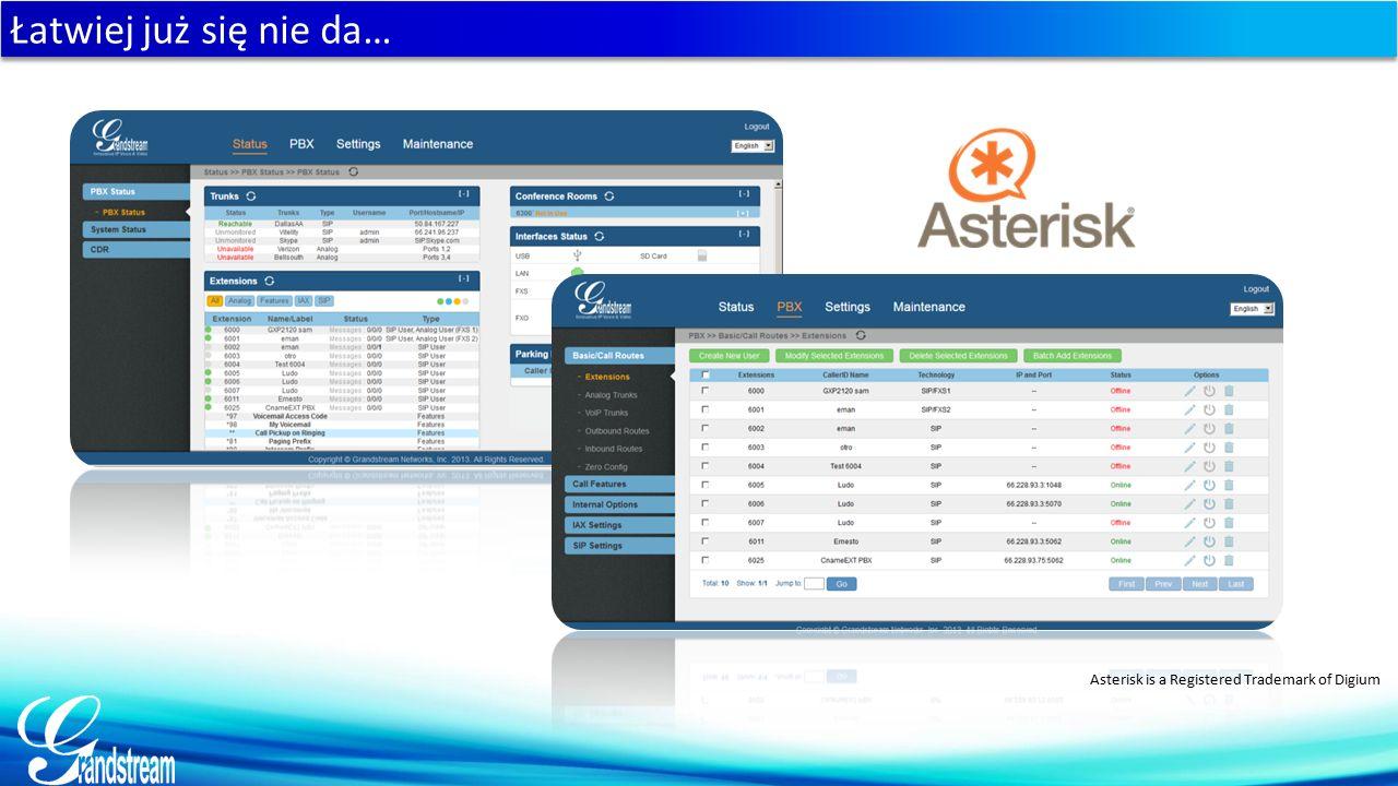 Łatwiej już się nie da… Asterisk is a Registered Trademark of Digium