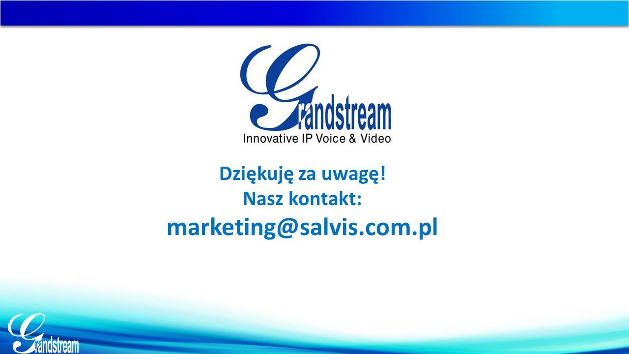 Dziękuję za uwagę! Nasz kontakt: marketing@salvis.com.pl