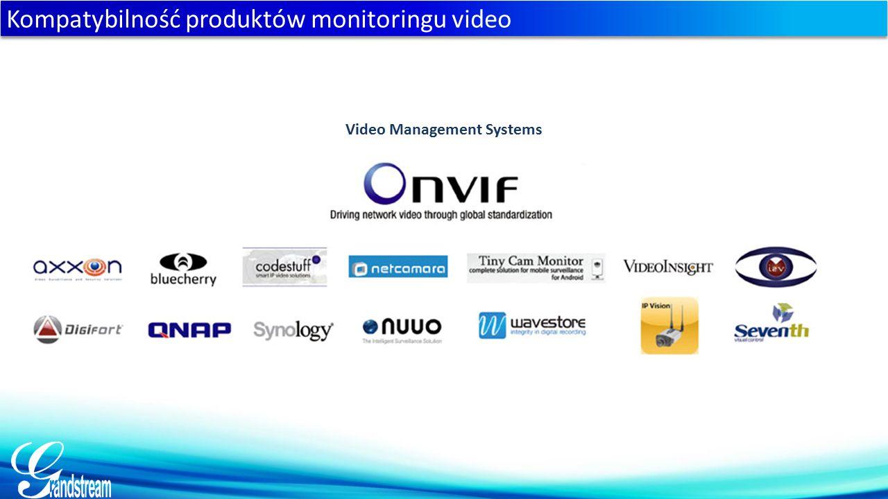 Kompatybilność produktów monitoringu video Video Management Systems