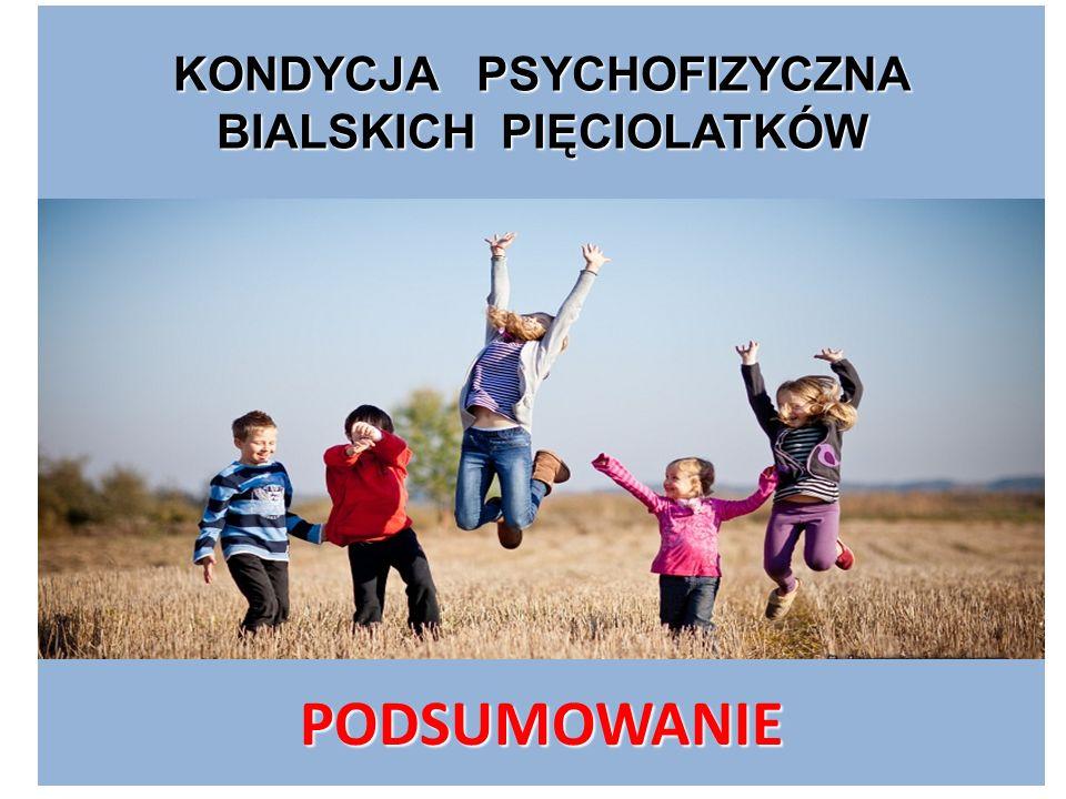 KONDYCJA PSYCHOFIZYCZNA BIALSKICH PIĘCIOLATKÓW PODSUMOWANIE